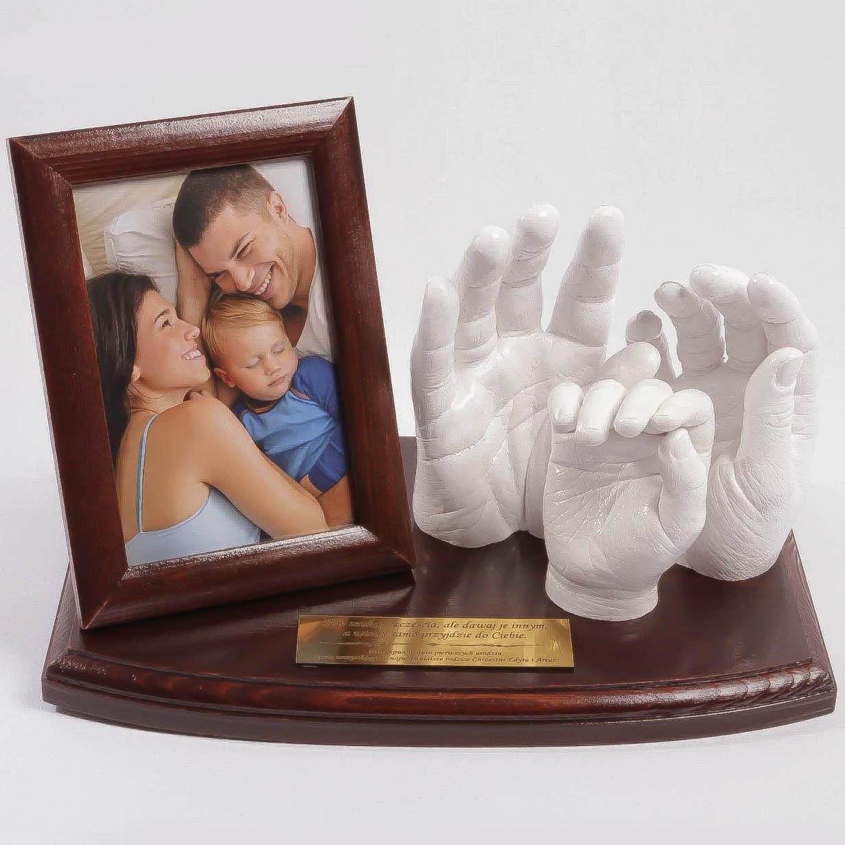 Bardzo dobra Odlewy gipsowe 3D dłoni dla rodziny jako prezent na urodziny NB63